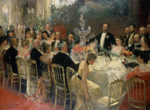 Celebration at the Leichner Residence, 1899-1900 by Friedrich Georg William Pape