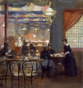 A Corner of the India Tea Room by Sir John Lavery