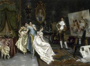 In the Artist's Studio by G Dalla Noce