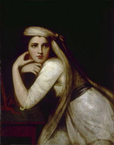 Portrait of Emma Hamilton as Bacchante by George Romney