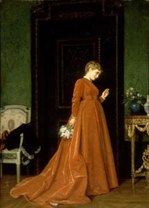 A Gentle Knock, 1868 by Auguste Toulmouche