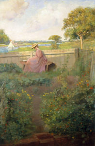 A Girl Reading by a River by H. Francis Bate