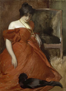 Black and Red, 1896 by John White Alexander
