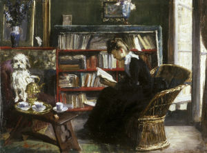 A Good Book, 1880 by Marie-Louise Catherine Breslau