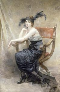 Femme Assise dans un Fauteuil Dagobert by Madeleine Lemaire
