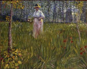 Femme dans un Jardin, 1887 by Vincent Van Gogh