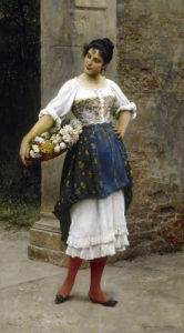 Venetian Flower Seller, 1895 by Eugene von Blaas