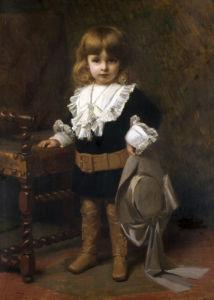Portrait of a Boy in Finery by Ferdinand Victor Léon Roybet