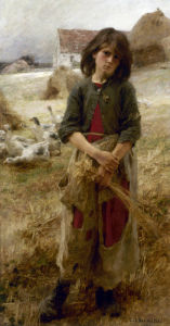 The Little Goose Girl of Mezy, 1892 by Léon-Augustin Lhermitte