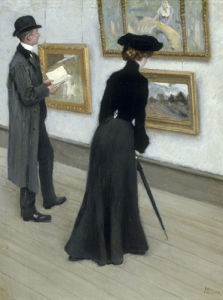 At the Gallery by Paul Gustav Fischer