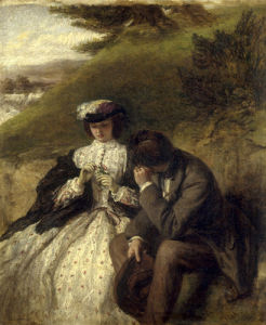 Lovers by a Waterfall by William Powell Frith