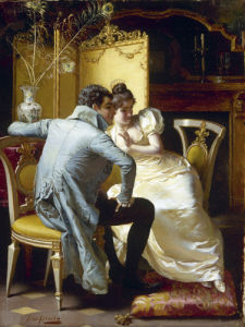 Lovers in an Elegant Interior by Pio Ricci