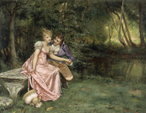 The Courtship by Joseph Frederic Charles Soulacroix