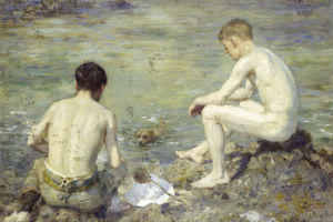 Three Companions by Henry Scott Tuke