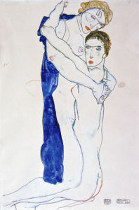 Zwei Sich Umarmende Frauen, 1913 by Egon Schiele