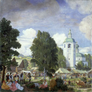 The Village Fair, 1920 by Boris Mikhailovich Kustodiev