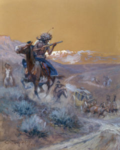 Indian Attack, 1910 by Charles Marion Russell