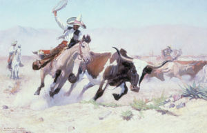 A Vaquero, c.1910 by William Herbert 'Buck' Dunton