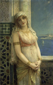 An Eastern Beauty by Leon Francois Comerre
