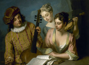 A Musical Party, 1720's by Philippe Mercier