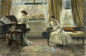 New Music, 1885 by Francis Sydney Muschamp