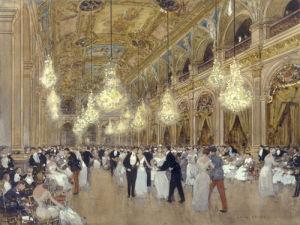 A Grand Ball in Paris by Luigi Aloys-François-Joseph Loir