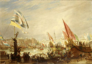 The Opening of London Bridge by William IV, 1831 by William Frederick Witherington