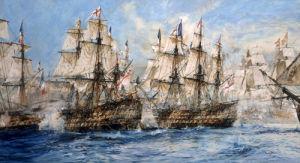 The Battle Of Trafalgar, 1933 by Charles Edward Dixon