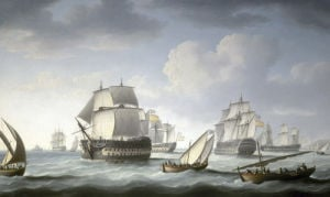 The Battle Of Trafalgar 1805 by Thomas Buttersworth