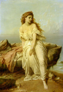 Miranda from The Tempest (Shakespeare), 1872 by Thomas Francis Dicksee