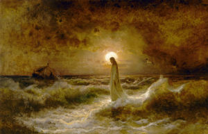 Christ Walking on the Waters by Julius Sergius von Klever