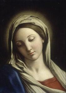 The Madonna by Giovanni Battista Salvi Da Sassoferrato