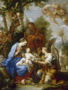 The Rest on the Return from Egypt by Giuseppe Bartolomeo Chiari
