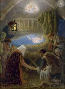 The Adoration by Arthur Hughes