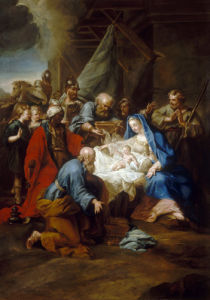 The Adoration of the Maji by Jean Bernard Restout
