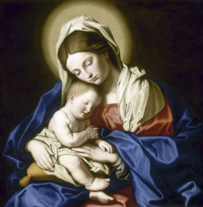 Virgin and Sleeping Child by Giovanni Battista Salvi Da Sassoferrato