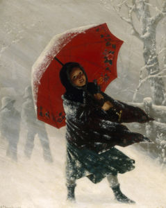 Children in a Snow Storm by Carl Kronberger