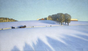 Winter Sunday in Dalecarlia by Sten Gustaf Herman Ankarcrona