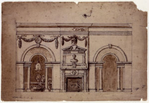 Preliminary Design for the Marble Parlour, Houghton, 1728 by William Kent
