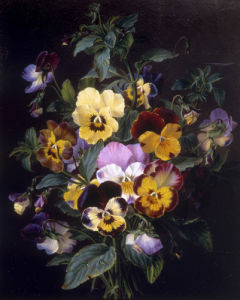 Bouquet of Pansies by Ange Louis Guillaume Lesourd-Beauregard Lesourd-Beauregard