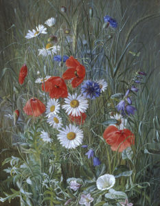 Flowers of the Field, 1875 by Emma Mulvad
