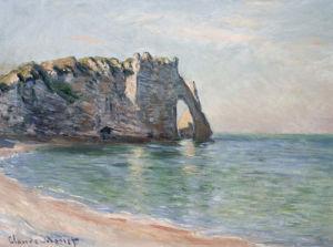 La Falaise d'Aval, La Porte et L'Aiguille, 1885 by Claude Monet