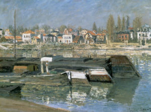 La Seine a Asnieres, 1873 by Claude Monet