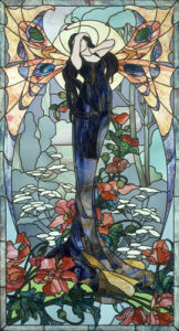 Stained Glass - Woman as a Butterfly by Anonymous