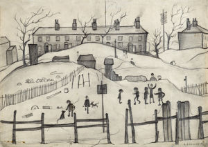 Houses In Broughton, 1937 by L S Lowry