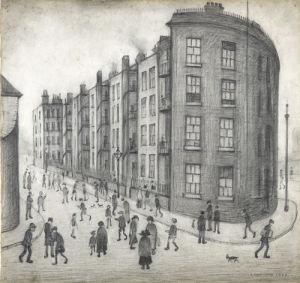 Oldfield Road Dwellings, 1929 by L S Lowry