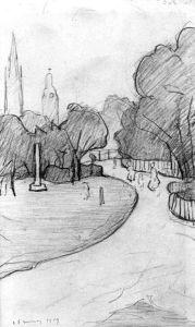 Peel Park Sketch, 1919 by L S Lowry