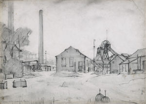 Wet Earth Colliery, Dixon Fold, 1925 by L S Lowry