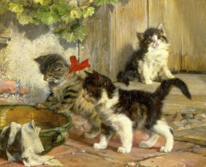 The Hungry Kittens by Julius Adam