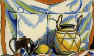 Still Life with Teapot by Henri Gaudier-Brzeska